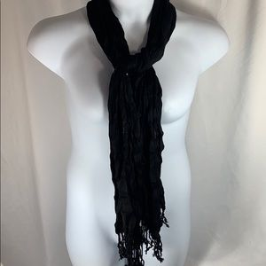 Accessories - Black Twisted Scarf